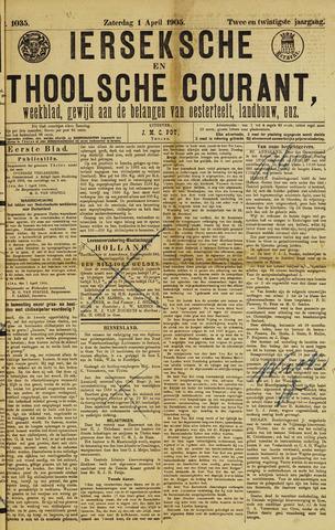 Ierseksche en Thoolsche Courant 1905-04-01