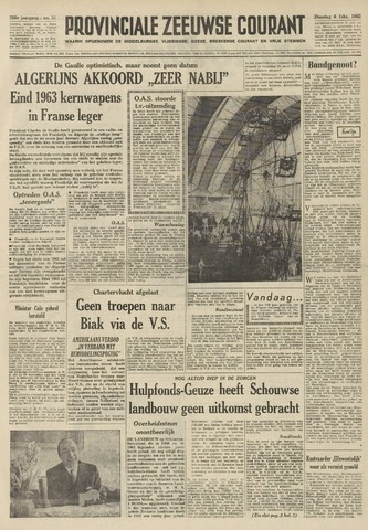 Provinciale Zeeuwse Courant 1962-02-06
