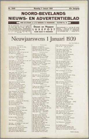 Noord-Bevelands Nieuws- en advertentieblad 1939