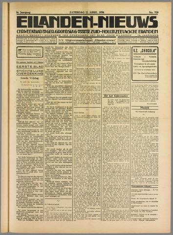 Eilanden-nieuws. Christelijk streekblad op gereformeerde grondslag 1936-04-11