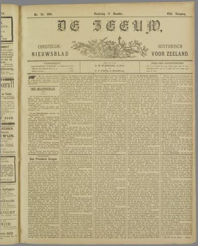 De Zeeuw. Christelijk-historisch nieuwsblad voor Zeeland 1896-12-17