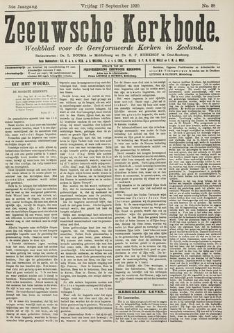 Zeeuwsche kerkbode, weekblad gewijd aan de belangen der gereformeerde kerken/ Zeeuwsch kerkblad 1920-09-17