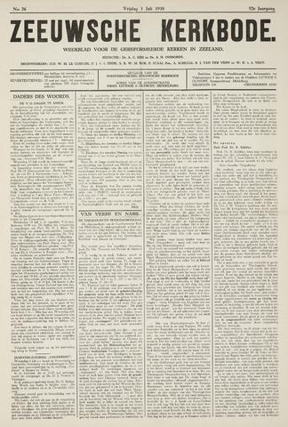 Zeeuwsche kerkbode, weekblad gewijd aan de belangen der gereformeerde kerken/ Zeeuwsch kerkblad 1938-07-01