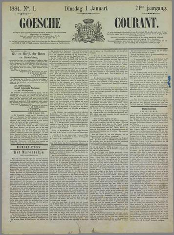 Goessche Courant 1884-01-01