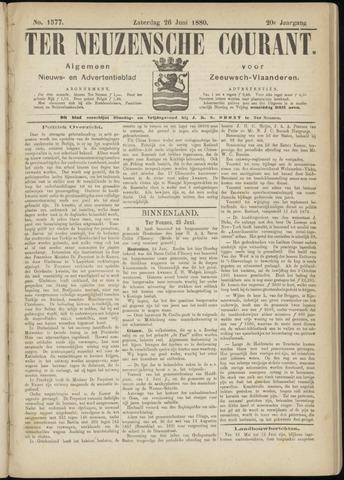 Ter Neuzensche Courant. Algemeen Nieuws- en Advertentieblad voor Zeeuwsch-Vlaanderen / Neuzensche Courant ... (idem) / (Algemeen) nieuws en advertentieblad voor Zeeuwsch-Vlaanderen 1880-06-26