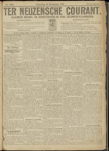 Ter Neuzensche Courant. Algemeen Nieuws- en Advertentieblad voor Zeeuwsch-Vlaanderen / Neuzensche Courant ... (idem) / (Algemeen) nieuws en advertentieblad voor Zeeuwsch-Vlaanderen 1914-12-19