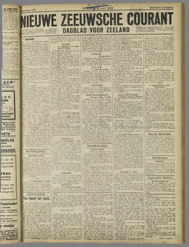 Nieuwe Zeeuwsche Courant 1920-06-16