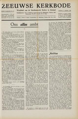 Zeeuwsche kerkbode, weekblad gewijd aan de belangen der gereformeerde kerken/ Zeeuwsch kerkblad 1951-03-09