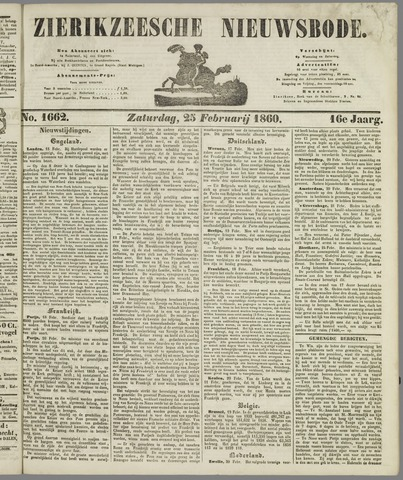 Zierikzeesche Nieuwsbode 1860-02-25