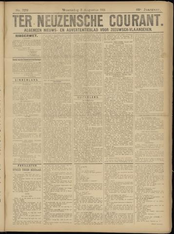 Ter Neuzensche Courant. Algemeen Nieuws- en Advertentieblad voor Zeeuwsch-Vlaanderen / Neuzensche Courant ... (idem) / (Algemeen) nieuws en advertentieblad voor Zeeuwsch-Vlaanderen 1921-08-03