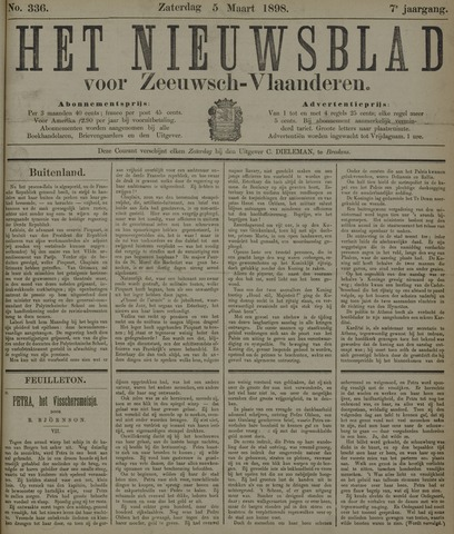 Nieuwsblad voor Zeeuwsch-Vlaanderen 1898-03-05