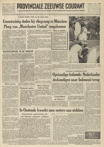 Provinciale Zeeuwse Courant 1958-02-07