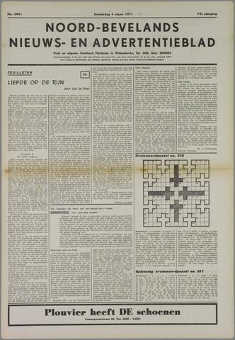 Noord-Bevelands Nieuws- en advertentieblad 1971-03-04