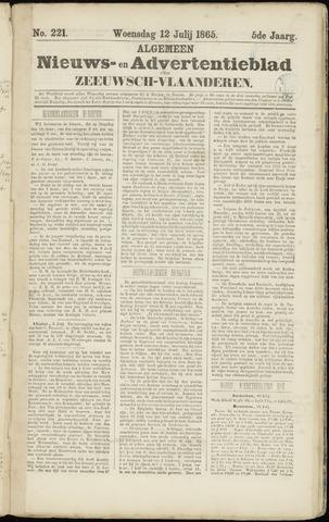 Ter Neuzensche Courant. Algemeen Nieuws- en Advertentieblad voor Zeeuwsch-Vlaanderen / Neuzensche Courant ... (idem) / (Algemeen) nieuws en advertentieblad voor Zeeuwsch-Vlaanderen 1865-07-12