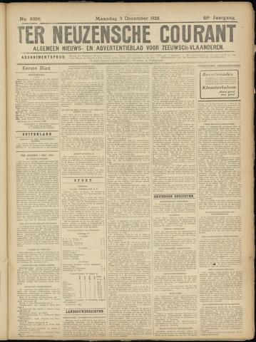 Ter Neuzensche Courant. Algemeen Nieuws- en Advertentieblad voor Zeeuwsch-Vlaanderen / Neuzensche Courant ... (idem) / (Algemeen) nieuws en advertentieblad voor Zeeuwsch-Vlaanderen 1928-12-03