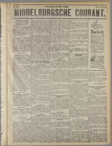 Middelburgsche Courant 1922-05-16