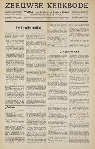 Zeeuwsche kerkbode, weekblad gewijd aan de belangen der gereformeerde kerken/ Zeeuwsch kerkblad 1957-01-18