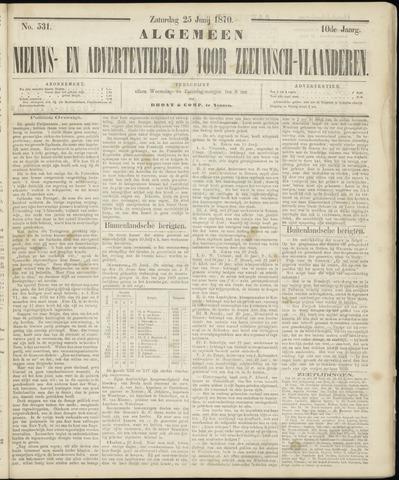 Ter Neuzensche Courant. Algemeen Nieuws- en Advertentieblad voor Zeeuwsch-Vlaanderen / Neuzensche Courant ... (idem) / (Algemeen) nieuws en advertentieblad voor Zeeuwsch-Vlaanderen 1870-06-25