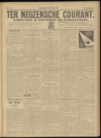 Ter Neuzensche Courant. Algemeen Nieuws- en Advertentieblad voor Zeeuwsch-Vlaanderen / Neuzensche Courant ... (idem) / (Algemeen) nieuws en advertentieblad voor Zeeuwsch-Vlaanderen 1933-07-10
