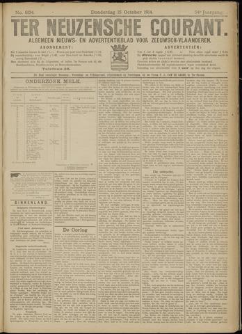 Ter Neuzensche Courant. Algemeen Nieuws- en Advertentieblad voor Zeeuwsch-Vlaanderen / Neuzensche Courant ... (idem) / (Algemeen) nieuws en advertentieblad voor Zeeuwsch-Vlaanderen 1914-10-15