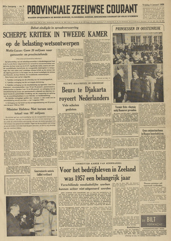 Provinciale Zeeuwse Courant 1958-01-03