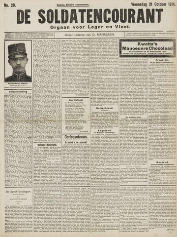 De Soldatencourant. Orgaan voor Leger en Vloot 1914-10-21