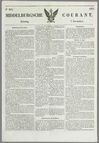 Middelburgsche Courant 1871-11-07