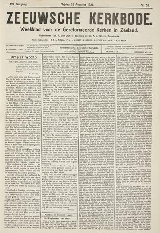 Zeeuwsche kerkbode, weekblad gewijd aan de belangen der gereformeerde kerken/ Zeeuwsch kerkblad 1925-08-28