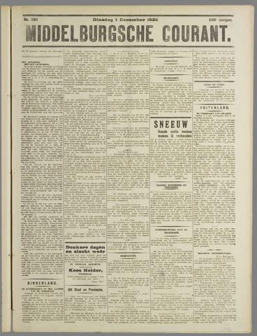 Middelburgsche Courant 1925-12-01
