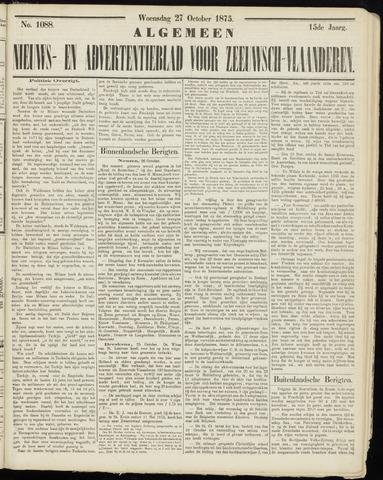 Ter Neuzensche Courant. Algemeen Nieuws- en Advertentieblad voor Zeeuwsch-Vlaanderen / Neuzensche Courant ... (idem) / (Algemeen) nieuws en advertentieblad voor Zeeuwsch-Vlaanderen 1875-10-27