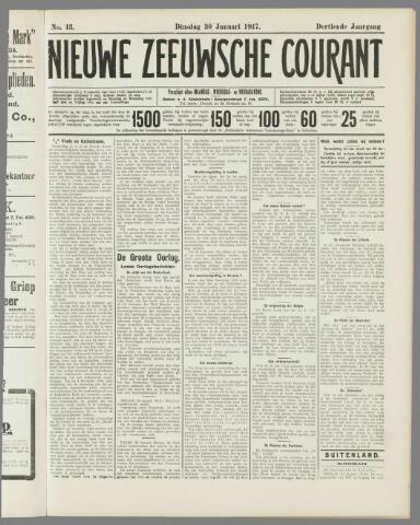 Nieuwe Zeeuwsche Courant 1917-01-30