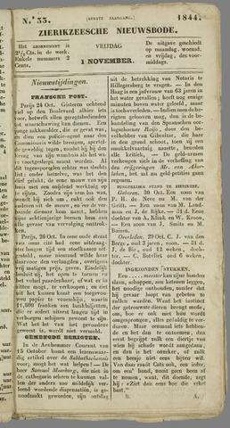 Zierikzeesche Nieuwsbode 1844-11-01