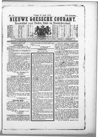 Nieuwe Goessche Courant 1876-04-21