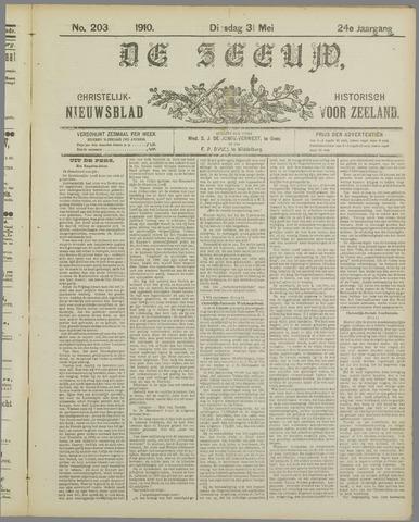 De Zeeuw. Christelijk-historisch nieuwsblad voor Zeeland 1910-05-31