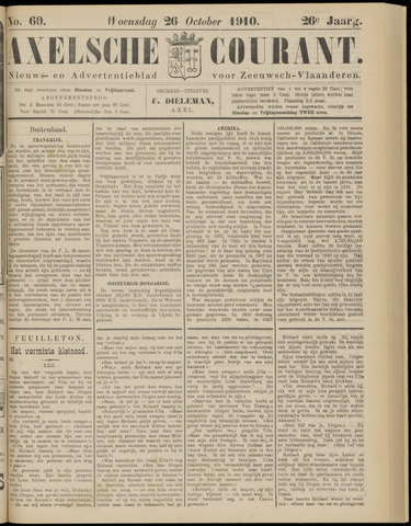 Axelsche Courant 1910-10-26