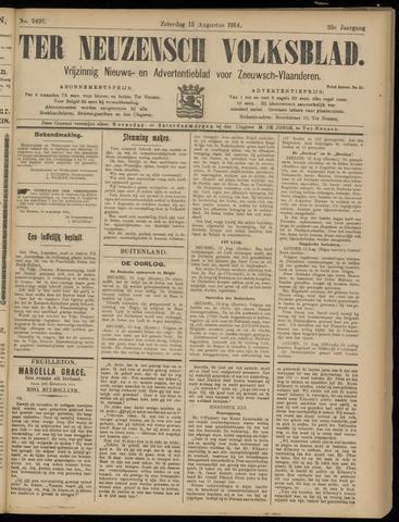 Ter Neuzensch Volksblad. Vrijzinnig nieuws- en advertentieblad voor Zeeuwsch- Vlaanderen / Zeeuwsch Nieuwsblad. Nieuws- en advertentieblad voor Zeeland 1914-08-15