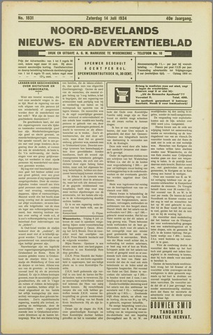 Noord-Bevelands Nieuws- en advertentieblad 1934-07-14