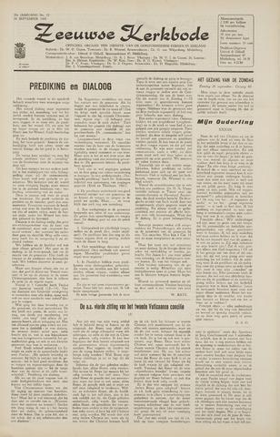 Zeeuwsche kerkbode, weekblad gewijd aan de belangen der gereformeerde kerken/ Zeeuwsch kerkblad 1965-09-24