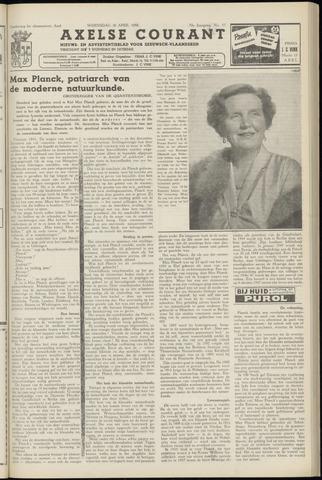 Axelsche Courant 1958-04-30