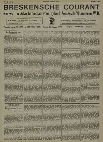 Breskensche Courant 1938-08-09