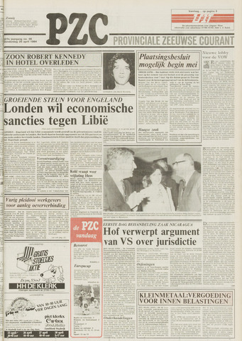 Provinciale Zeeuwse Courant 1984-04-26