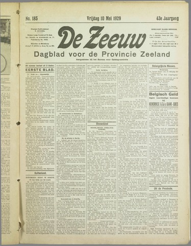 De Zeeuw. Christelijk-historisch nieuwsblad voor Zeeland 1929-05-10