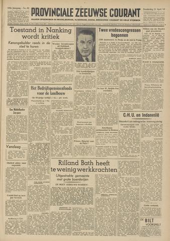 Provinciale Zeeuwse Courant 1949-04-21