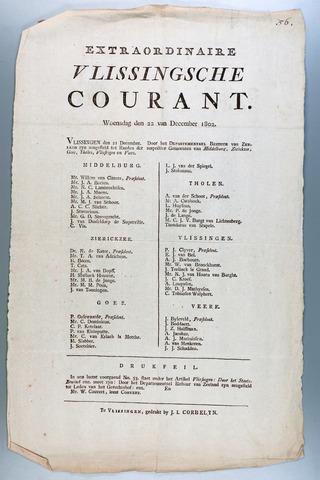 Vlissingse Courant 1802