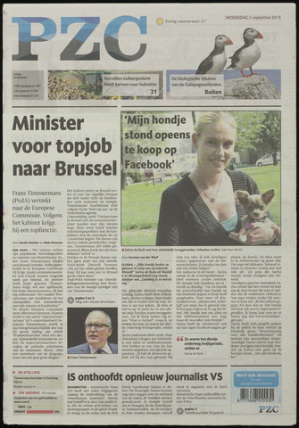 Provinciale Zeeuwse Courant 2014-09-03