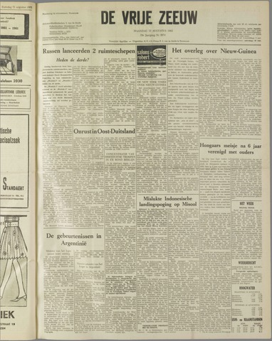 de Vrije Zeeuw 1962-08-13
