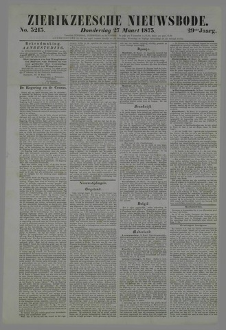 Zierikzeesche Nieuwsbode 1873-03-27
