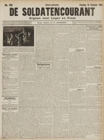 De Soldatencourant. Orgaan voor Leger en Vloot 1916-10-15