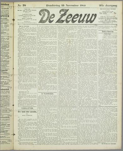 De Zeeuw. Christelijk-historisch nieuwsblad voor Zeeland 1919-11-13