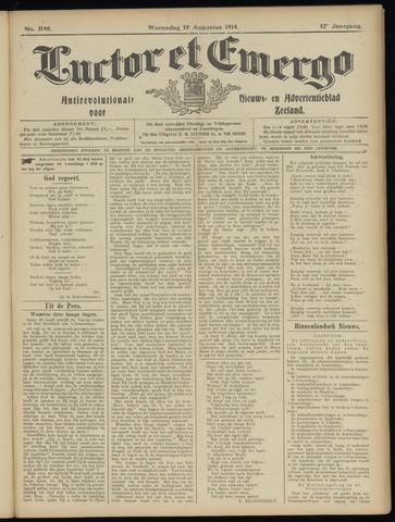 Luctor et Emergo. Antirevolutionair nieuws- en advertentieblad voor Zeeland / Zeeuwsch-Vlaanderen. Orgaan ter verspreiding van de christelijke beginselen in Zeeuwsch-Vlaanderen 1914-08-19